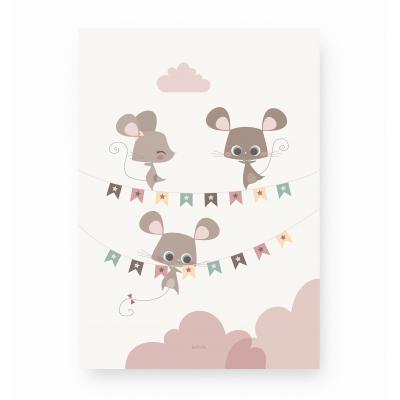 affiche enfant souris, affiche enfant animaux, affiche enfant funambule