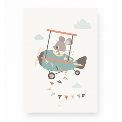 affiche enfant avion