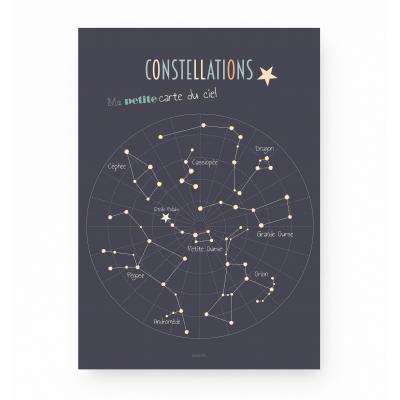 affiche enfant constellations