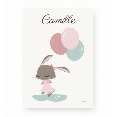 Lapin Câlin Rose - Personnalisable