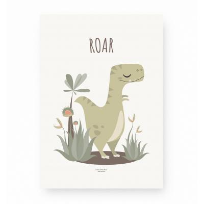 Affiche enfant tyrannosaure, affiche dinosaure