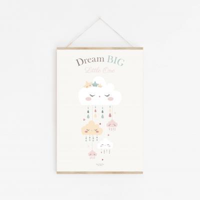affiche enfant nuage dream big little one