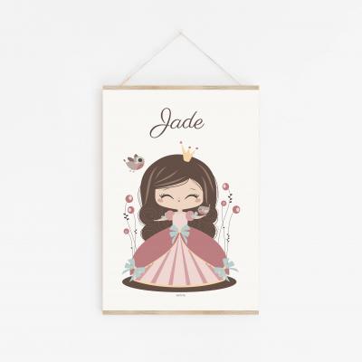 affiche bébé princesse personnalisable princesse