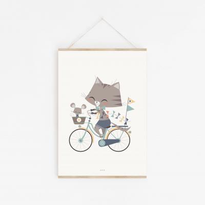 affiche bébé garçon, affiche bébé animaux, affiche bébé chat, lutin petit pois