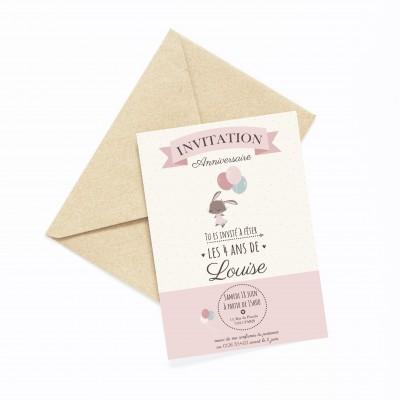 carte invitation anniversaire enfant personnalisable, lutin petit pois