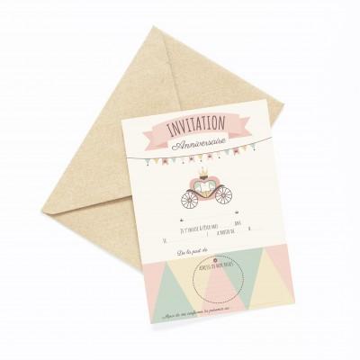 Cartes Invitation Anniversaire à Remplir - Enveloppes...