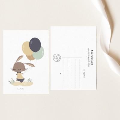 Carte Papier Texturé - Lapinou