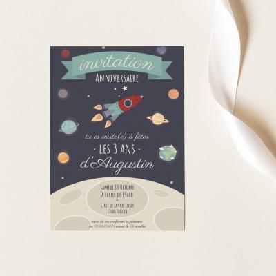 Cartes Invitation Anniversaire Personnalisables - Espace
