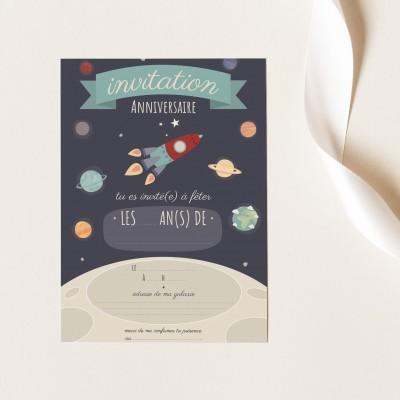 Cartes Invitation Anniversaire à Remplir - Espace