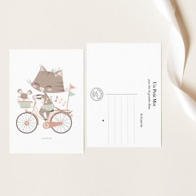 Carte Papier Texturé - Géraldine & Souricette