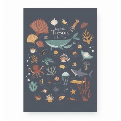affiche enfant animaux de la mer, affiche enfant baleines, affiche enfant animaux marins, lutin petit pois