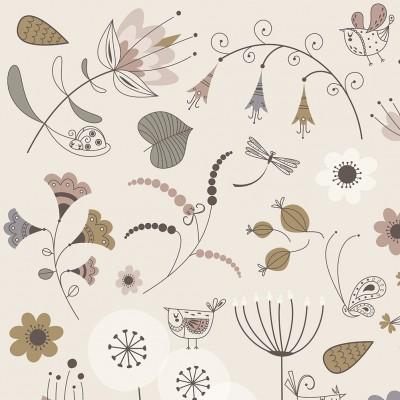 affiche enfant floral, affiche enfant herbier, poster enfant herbier, poster enfant fleurs