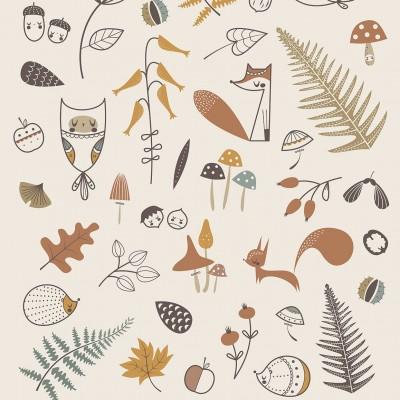 affiche bébé animaux de la forêt, affiche bébé animaux, affiche renard