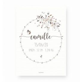 affiche de naissance personnalisable, affiche baptême personnalisable, affiche bébé, lutin petit pois