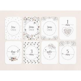 cartes étapes naissance, cartes étapes bébé, cartes étapes première année