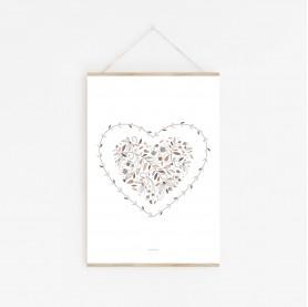 affiche enfant cœur, décoration cœur, lutin petit pois,