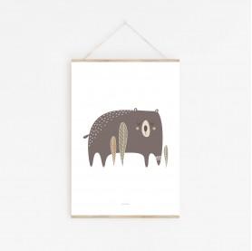affiche ours, affiche bébé ours, affiche bébé animaux, lutin petit pois