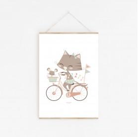 affiche géraldine et souricette, lutin petit pois, affiche bébé, affiche enfant, lutin petit pois