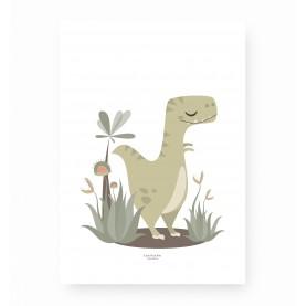 affiche enfant tyrannosaure, monsieur t rex, affiche enfant t rex, lutin petit pois