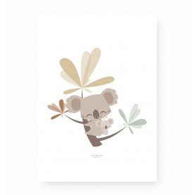 affiche enfant koala, affiche koala, poster koala, lutin petit pois