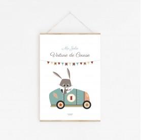 affiche bébé garçon, affiche enfant garçon, affiche bébé voiture, affiche enfant voiture, lutin petit pois