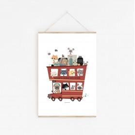 affiche bébé voitures, affiche bébé camions, affiche enfant garçon, affiche bébé animaux