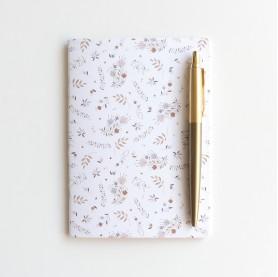 carnet de note doré, joli carnet de note, carnet de note brillant or, lutin petit pois, carnet A6 avec dorure, carnet enfant