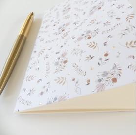 carnet de note illustré, joli carnet de note souple A6, carnet de note 10 x 15 cm, lutin petit pois, carnet de note dorure
