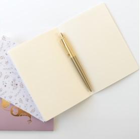 carnet de notes pages vierges, lutin petit pois, carnet de notre avec doré, carnet de note enfant