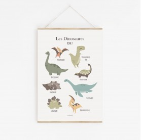 poster dinosaures, poster enfant dinosaures, poster dinosaures, lutin petit pois