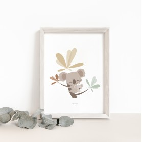 affiche bébé koala, affiche naissance koala, poster bébé koala, lutin petit pois