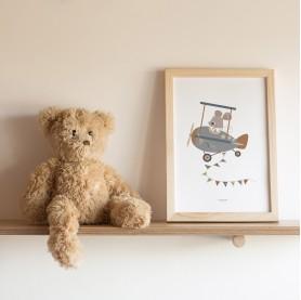 affiche bébé avion, affiche bébé souris, affiche bébé garçon, lutin petit pois