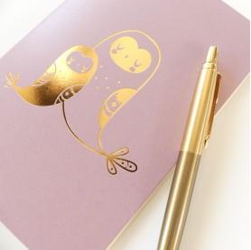 lutin petit pois, carnet de note A6 10 x 15 cm, carnet de note hiboux, carnet de notes animaux, carnets de notes chouettes