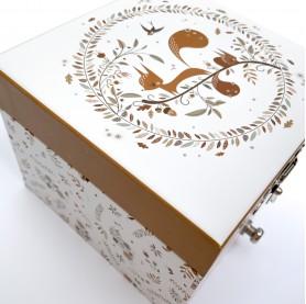 Cadeau naissance, boîte à secrets enfant, trousselier, lutin petit pois