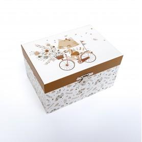 Boîte à musique lutin petit pois, boîte à bijoux enfant trousselier chat