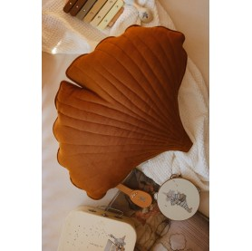 Coussin Feuille Ginkgo -...