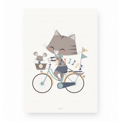 affiche enfant chat - affiche enfant souris