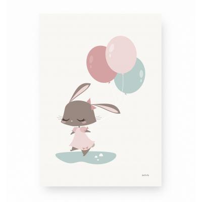 affiche enfant lapin