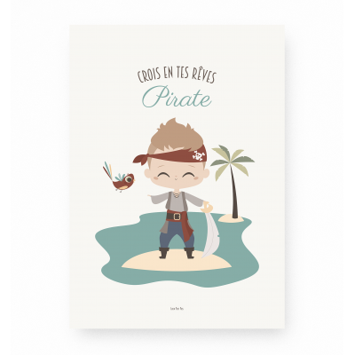 affiche enfant pirate