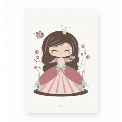 affiche enfant princesse